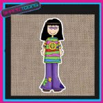 60'S HIPPY DESIGN JUTE  SHOPPING LADIES GIFT BAG 004